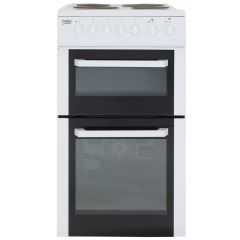 Beko BCDP503W 50Cm Twin Cavity Electric Cooker