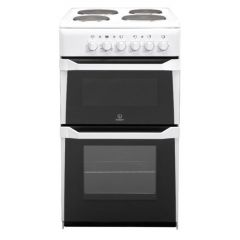 Indesit IT50EWS Cooker 50Cm Electric Twin Cavity