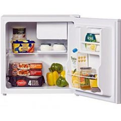 Lec Refrigeration R50052W Fridge Small Table Top