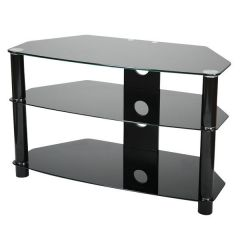 Vivanco U K Ltd B800B (26061) 800mm Black Glass Stand